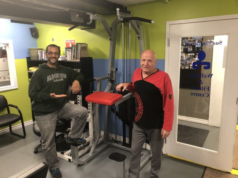 Christopher and Larry proudly present the new assisted pull-up machine